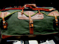 Vintage GOKEYS ORVIS Canvas & Leather Hunting/Travel Duffle  Battenkill
