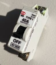 MEM 40A Type 1 Single Pole M6 40 Amp Circuit Breaker SP MCB ~ Memera 21 ~ 401QEB