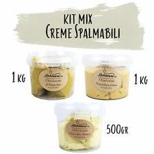 Crema di Pistacchio, Cioccolato Bianco, Nocciola al latte - Spalmabile o Farcire