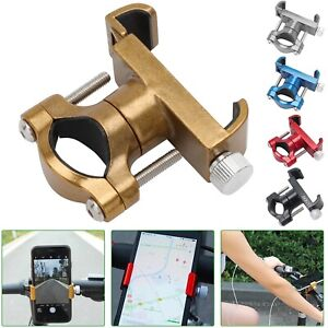 Bike Mobile Phone Holder Stand Aluminum Alloy Cycling Bike Anti-slip Bracket