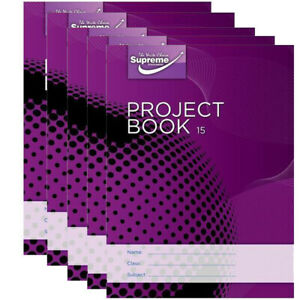 COPYBOOK JUNIOR PROJECT 15 EXERCISE COPY 40 PAGES -  5 X COPIES
