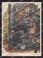Heinrich Kley Dieselmotor Probestand Arbeiter MAN Maschinenfabrik Augsburg 1911