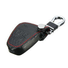 Black Leather Remote Key Case Cover For Jeep Liberty Compass Patriot Wrangler