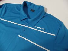Oakley Regular Fit Mens Large Casual Golf Polo Shirt blue