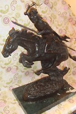 """The Cheyenne by Frederic Remington Bronze Statue Rare Early 1950's Casting 27"""""""