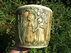 Weller Girls in the Forest Jardiniere Mission Arts & Crafts Antique Ohio Pottery