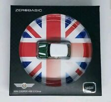 Zero Basic Mini Cooper Car Figure USB 2.0 Flash Drive Stick 4 GB Green White NEW