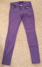 J Brand Super Skinny Purple Jeans Cotton 98% Stretchy 2% Size 26