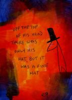 21011404 e9Art ACEO Hat Outsider Art Painting Brut Contemporary Expressionism