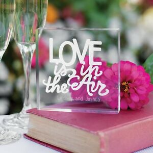 Love Is In The Air Personalized Acrylic Wedding Cake Topper