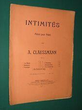 """Partition Piano A. CLAUSSEMANN Intimités Op. 53 """"en forme de valse"""""""