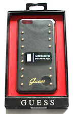 PREMIUM Lastra Custodia Rigida Back COVER Guess iPhone 6 Plus 6S plus nero
