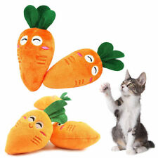 Dog Pet Chew Play Squeaky Sound Plush Vegetable Toys Chaser Wand