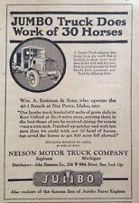1920 AD(XF1)~NELSON MOTOR TRUCK CO. SAGINAW, MI. THE JUMBO FARM TRUCK