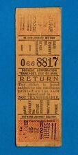 Isle of Man Bus Ticket ~ Douglas Corporation - Insert Setright: 3/- Return 1960s