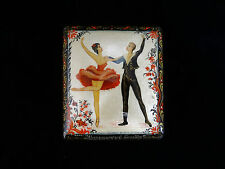 "Russian Lacquer Box ""Ballet"" 722  - Kholui hand painted Russian Lac Box"