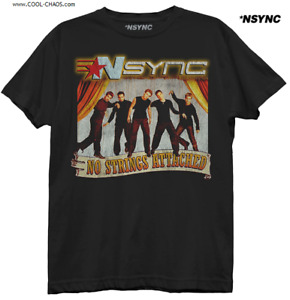 NSYNC T-Shirt / 90's Boy Band NSYNC No Strings Attached Retro Pop Rock Tee