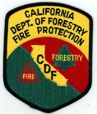 CALIFORNIA DEPARTMENT OF FORESTRY FIRE PROTECTION CDF COLORFUL POLICE SHERIFF
