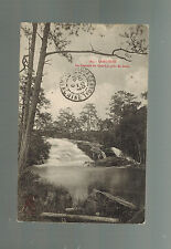 1919 Saigon Vietnam RPPC Postcard Cover Lang Bian Waterfalls