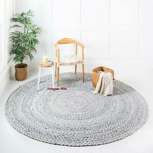 Rug 100% Natural Cotton Reversible Handmade Floor modern living carpet area rugs