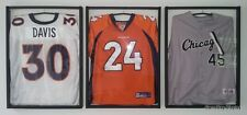 Lot of 3 Standard White Backing Jersey Display Case Frame By GameDay Display