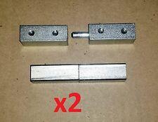 2 Pc1 Pair Block Take Apart Hinge Zinc Steel 3 12 Weld On Malefemale Gw156