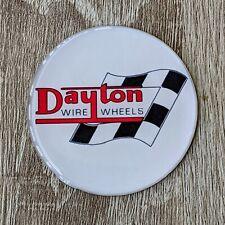 White Dayton Zenith Wire Wheel Chips Emblems Decals Set Of 4 Size 225in