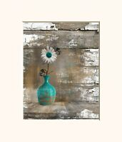 Rustic Teal Brown Kitchen Dinning Room Farmhouse Home Decor Wall Art Picture