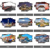 World Famous City Landmarks 3D Art Wall Mural Photo Wallpaper Wall Stickers