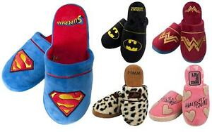 Adults Mens Ladies DC Comics Novelty Character Mule House Slippers 5-7/8-10