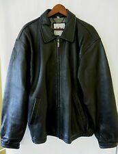 Adler Authentic Mens NZ Lambskin Leather Jacket Zip Front Black Size 2XL #up9942