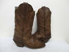 Justin Distressed Leather Square Toe Cowboy Boots Womens Size 8 B Style BRL122