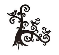 Nuevo-Negro Metal Joyería y pendiente árbol soporte de exhibición olas y aves