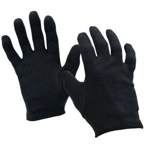 Black 100% Cotton Moisturising Glove Liners  Beauty Eczema Dermatitis Psoriasis