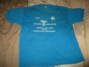 Johnny Hallyday-T-shirt Crew tour 66-2009-Stade St Symphorien-INTROUVABLE-XL