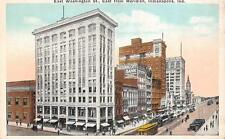 INDIANAPOLIS, IN Indiana WASHINGTON ST SCENE National City Bank c1920's Postcard