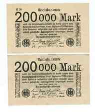 GERMANY REICHSBANKNOTE 200000 MARK 1923/sold as each