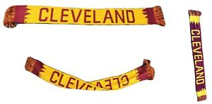 Cleveland Skyline Knitted Scarf With Fringe In Wine or Gold Cleveland Scarf