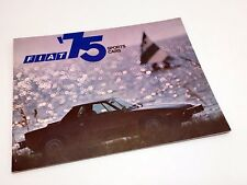 1975 Fiat X1/9 124 Coupe Spider L Coupe Sports Cars Brochure