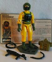 Vintage Hasbro GI Joe ARAH 1985 Airtight  Complete W/Peach V1 File Card  HK/NM+!
