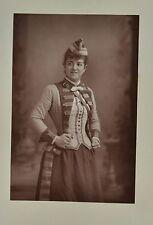 Fine 1890 Cabinet Card Portrait Photo Zelie De Lussan Opera Soprano W&D Downey