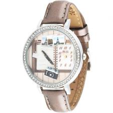 Orologio MINI WATCH 3D ref. MN1058 Donna cassa acciaio con strass in pelle