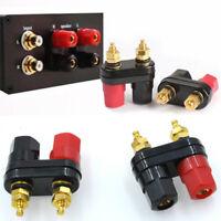 Dual Female Banana Plug Terminal Binding Post for Speaker Amplifier Useful 1pc