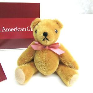 BRAND NEW American Girl Doll SAMANTHA'S MOHAIR TEDDY BEAR Toy + Pamphlet Box