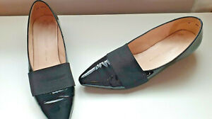 Peter Kaiser Size 7 Leather Black Patent Flat Shoes