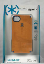 iPhone 4 4S Speck Candyshell Orange w/Blue Trim