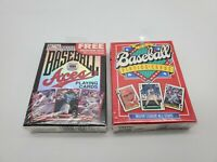 TWO SEALED DECKS 1995 Baseball Aces AND 1991 Baseball All Stars Playing Cards