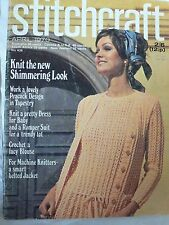Vintage 1970 Stitchcraft Knitting Pattern and Craft Magazine
