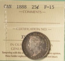 1888 - Canada Silver 25 Cents  - Graded - ICCS F-15 - SERIAL# XHW 276