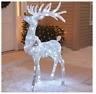 "48"" 3D LED Lighted Twinkling Standing Buck Sculpture Christmas Yard Decor"